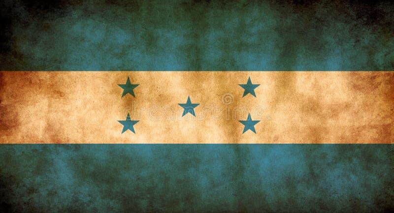 Rustic, Grunge Honduras Flag. A rustic grunge Honduras flag with a sepia tone stock photography