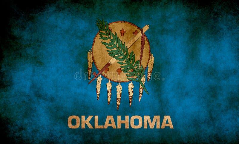 Rustic, Grunge Oklahoma State-flagga royaltyfria bilder