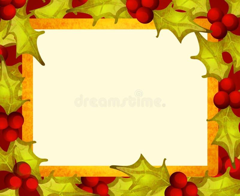 Download Rustic Holly Leaf Border Stock Vector Illustration Of Framing