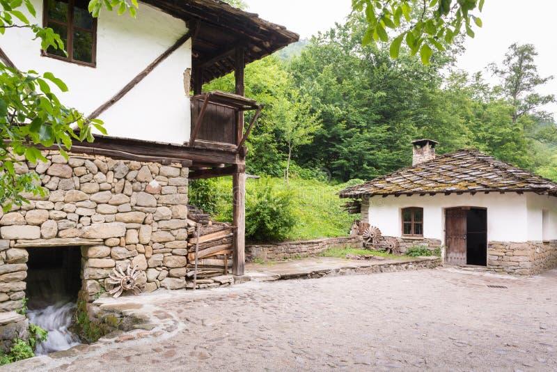 Rustic house in traditional Bulgarian village, Bulgaria stock image