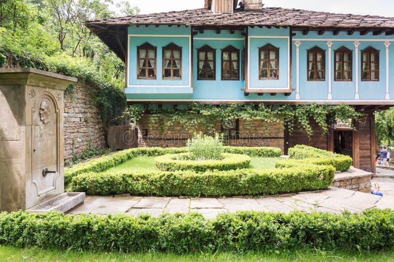 Rustic house in traditional Bulgarian village, Etara royalty free stock images
