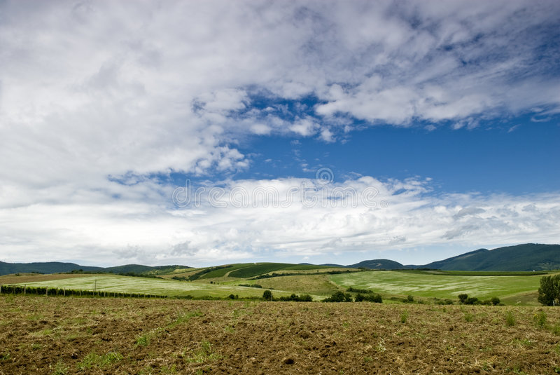 Rustic, idyllic landscape in Hungary royalty free stock image