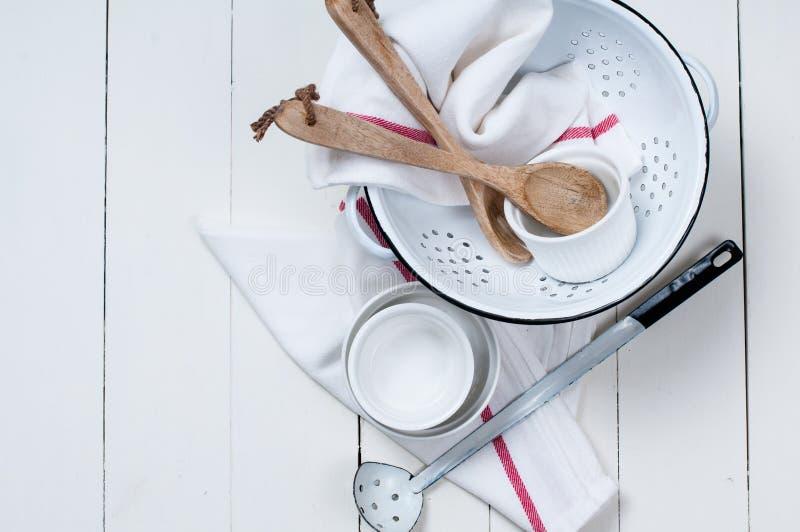 Rustic kitchen decor stock image