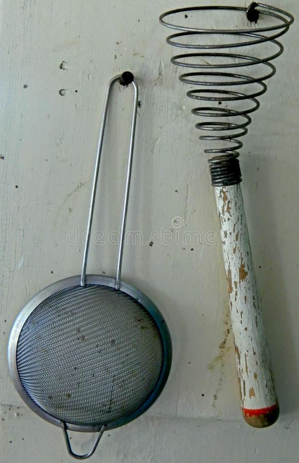 Rustic kitchen tools royalty free stock photos