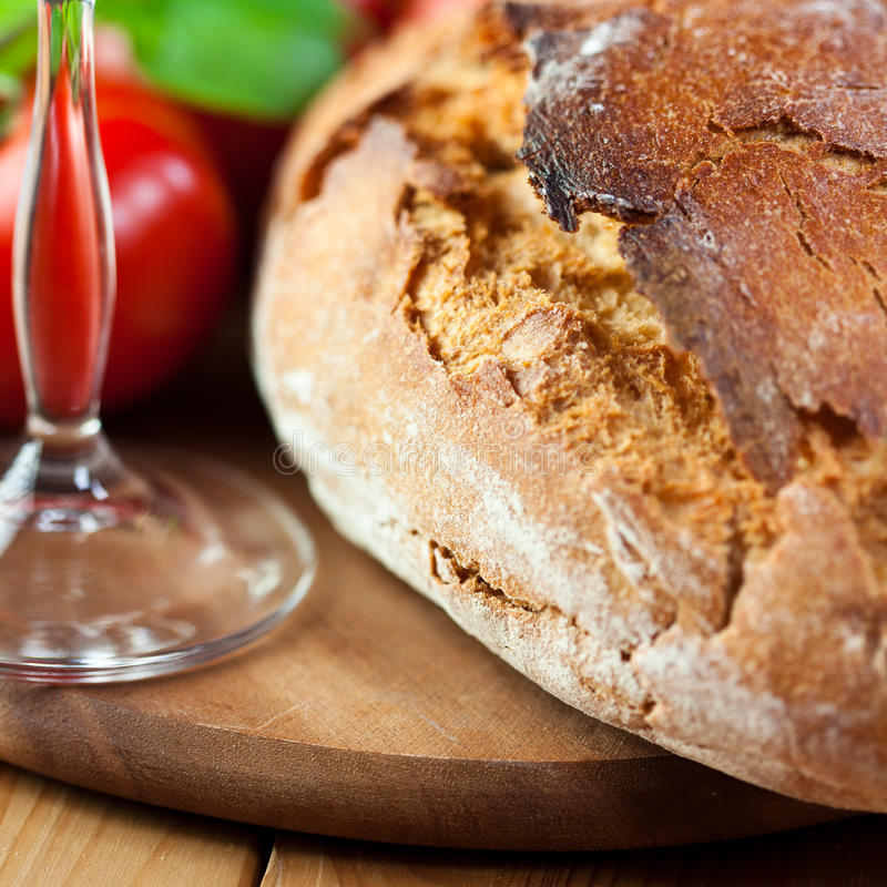 Rustic Loaf Of Bread Stock Photography