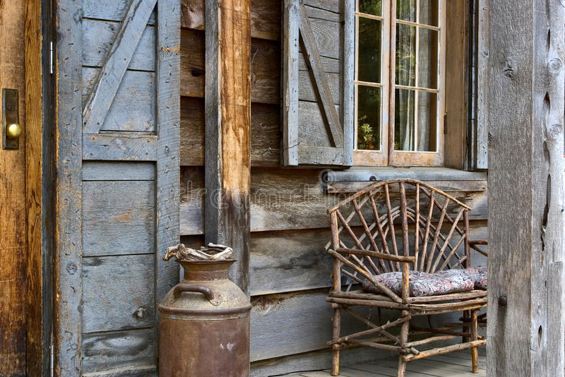 Download Rustic Lodge Front Porch Stock Image - Image: 27613411