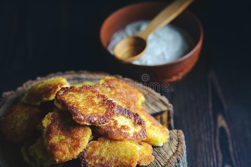 Rustic lunch on a black background.  stock photography