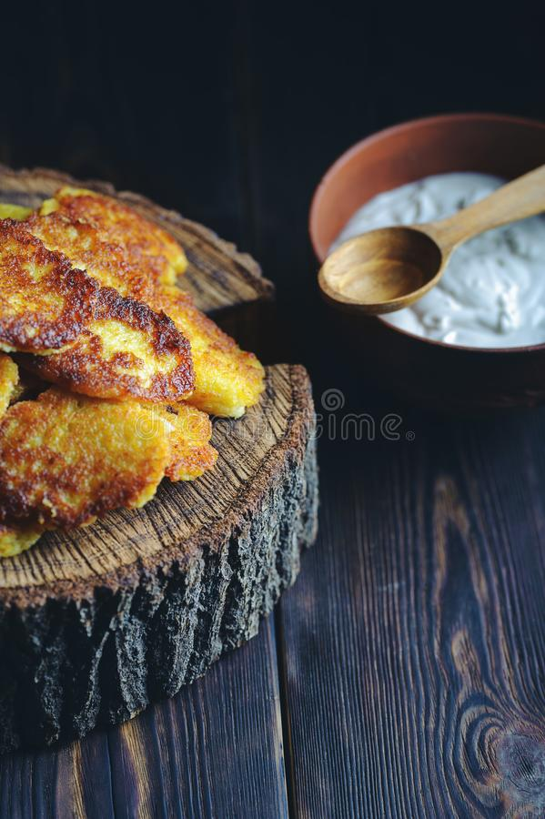 Rustic lunch on a black background.  royalty free stock photo