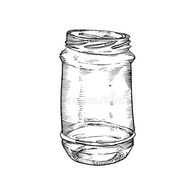 Rustic, mason and canning jars. Hand drawn. Sketch design elements. Vector illustrations vector illustration