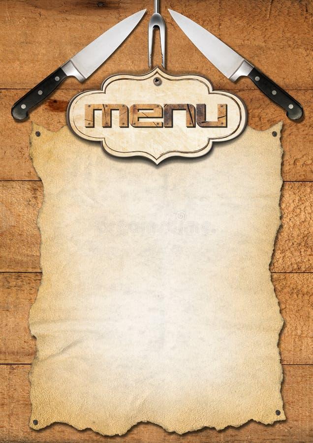 Rustic Menu Template Stock Illustration Illustration Of