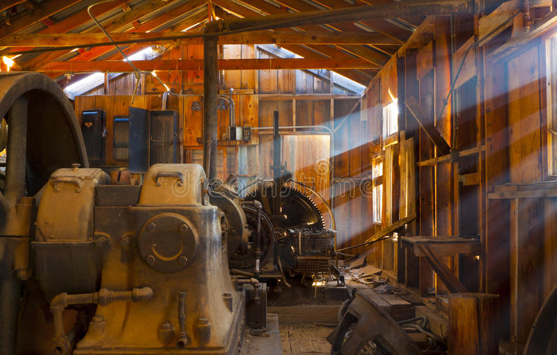 Download Rustic Mining Shack stock image. Image of engine, faded - 25323727