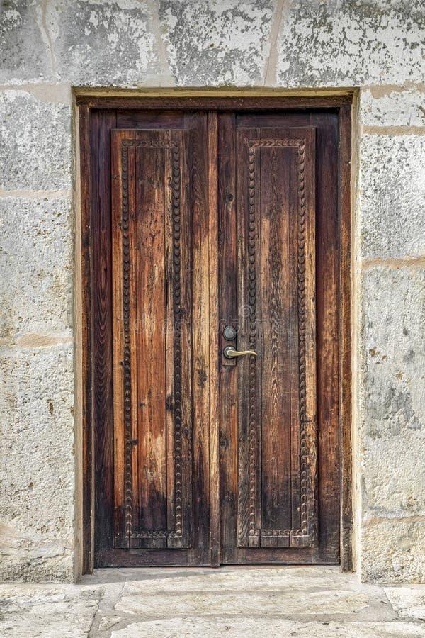 Rustic Mission Door - San Antonio, Texas stock images