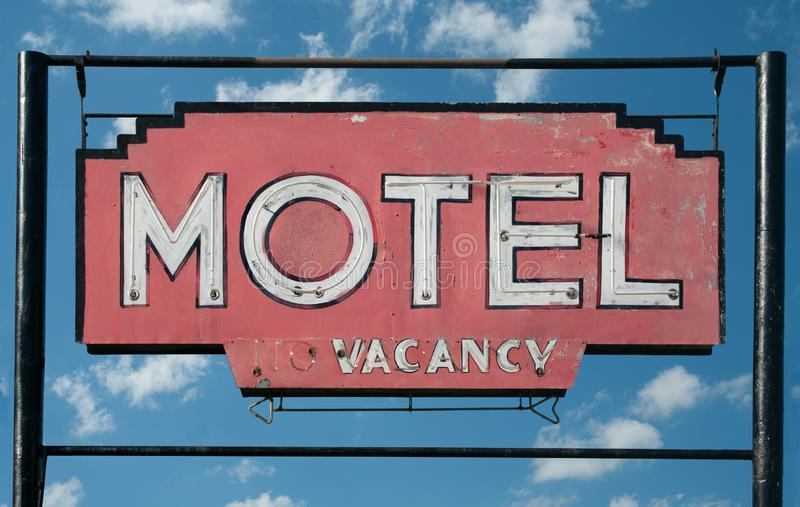 Rustic Motel Sign royalty free stock photos