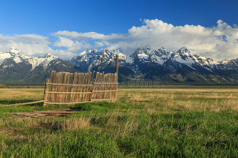 Rustic old farm fence. royalty free stock photo