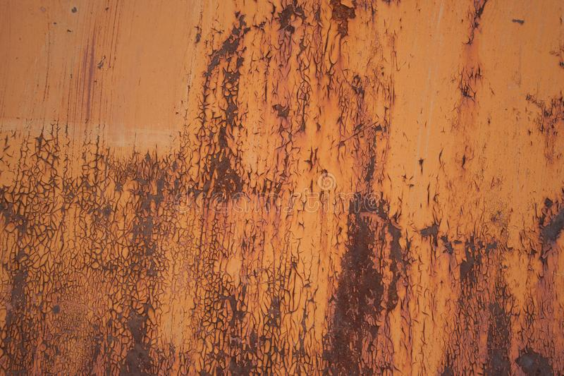 Rustic old orange iron surface texture stock image