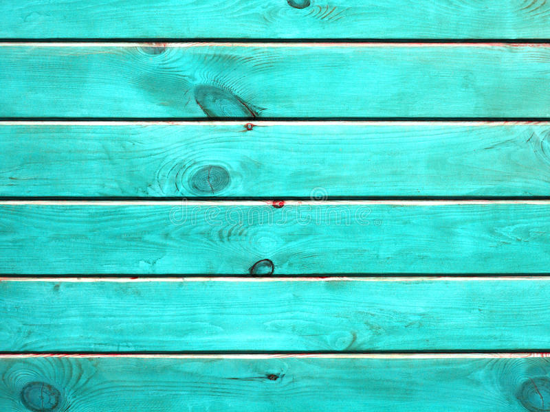 rustic old plank background in turquoise  mint and white