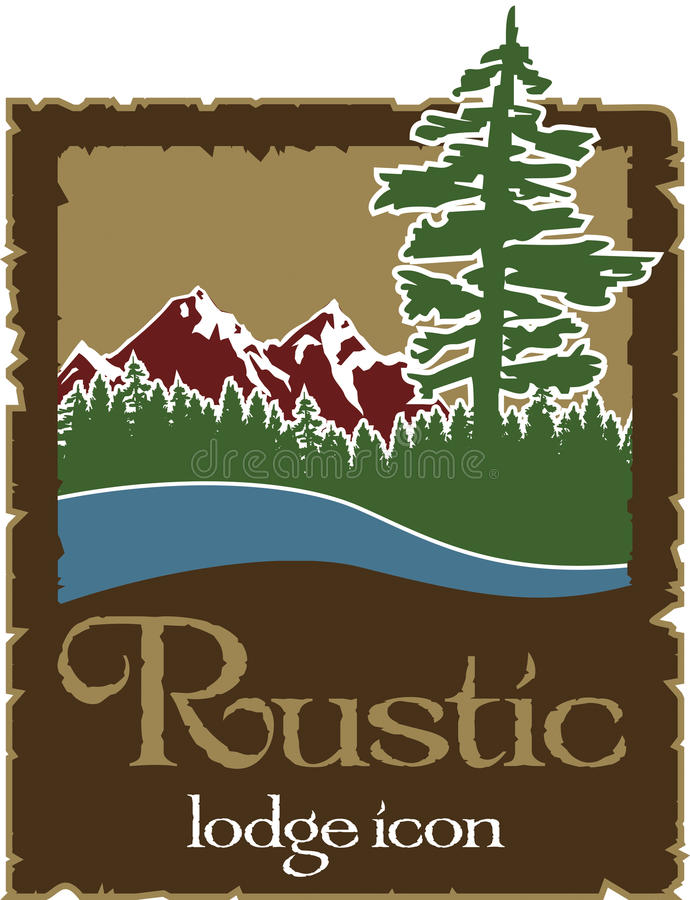 Rustic outdoors logo with copy space vector illustration