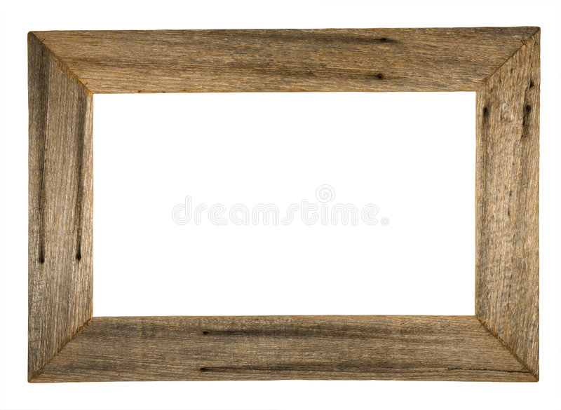 Rustic picture frame stock photos