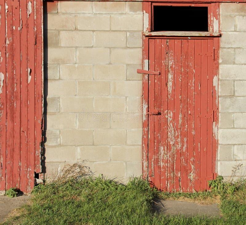 Download Rustic Red Wooden Barn Door Background Stock Photo