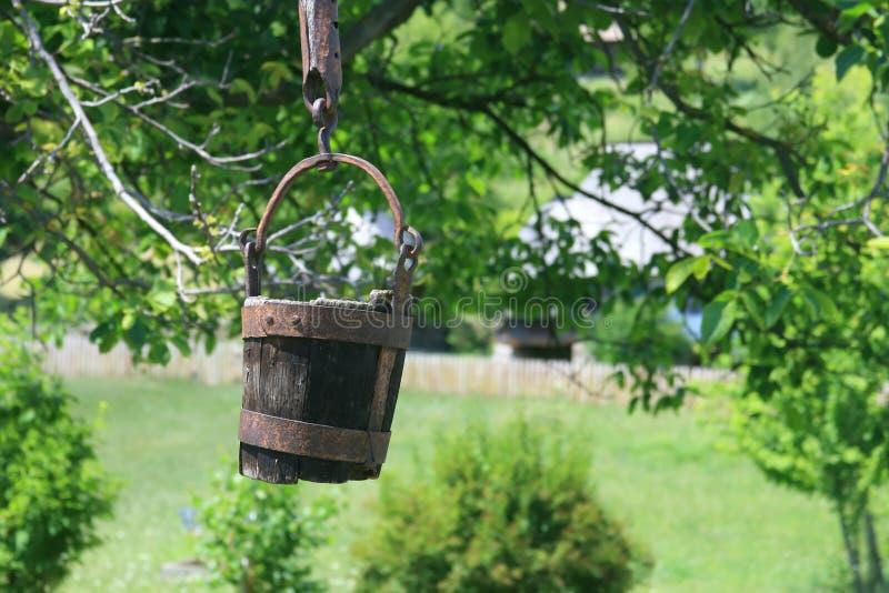 Download Rustic Romanian Wooden Well Bucket- Valcea Region Royalty Free Stock Photos - Image: 11825178