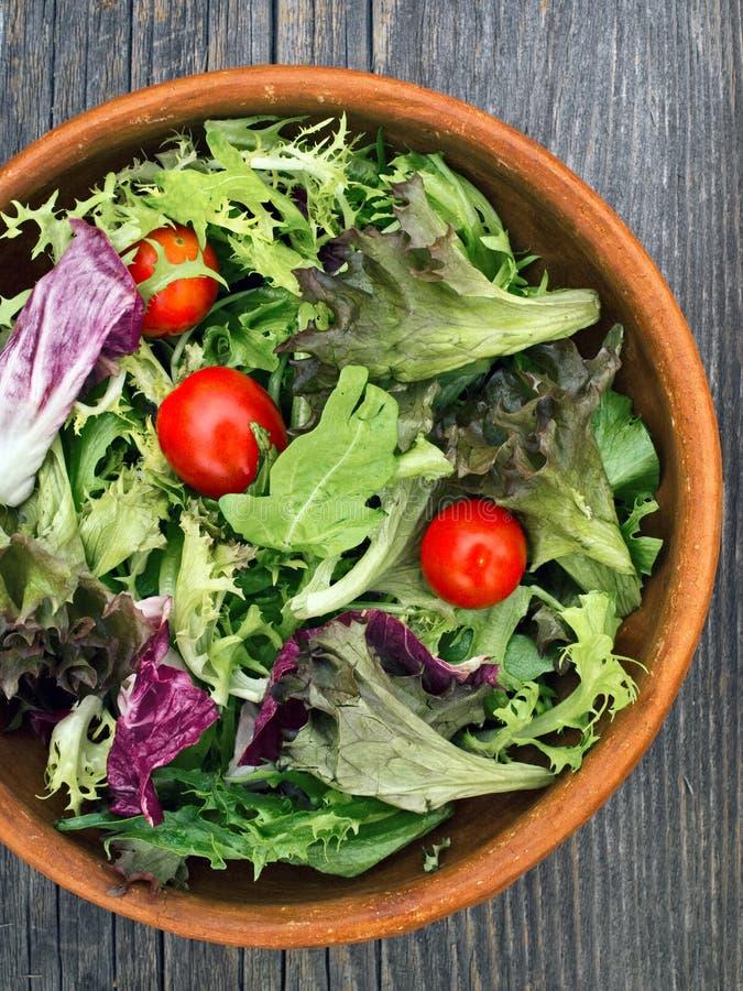 Rustic salad greens royalty free stock photo