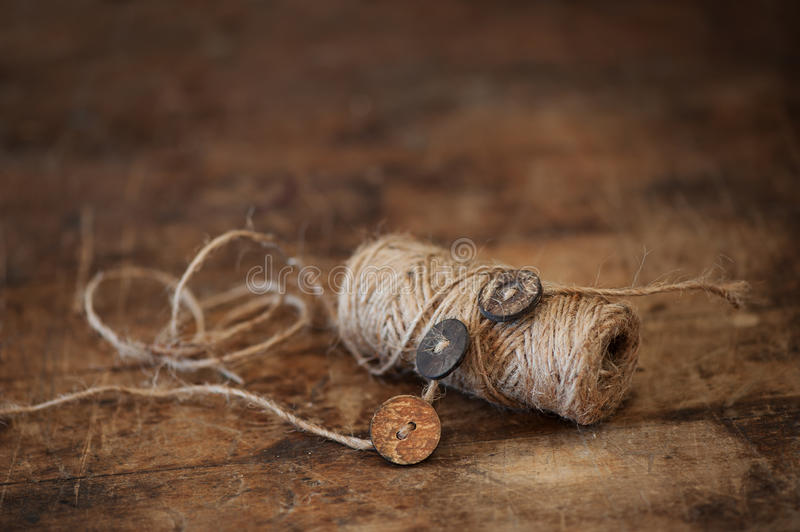 Rustic Sewing Materials royalty free stock photography