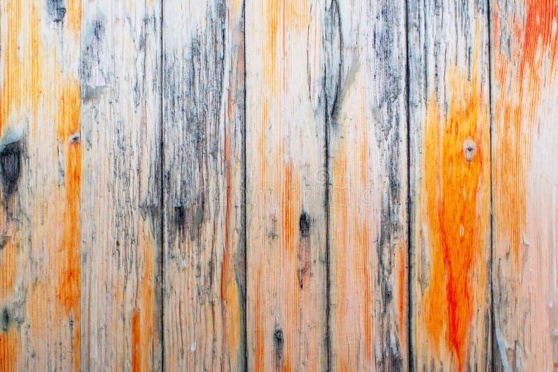 Rustic Shabby drewniane tło z resztkami starej farby Tekstura ogrodzenia drewnianego z farbą obierającą Tapeta szerokokątna lub W zdjęcie stock