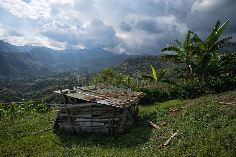 Rustic shack in Colombia royalty free stock image