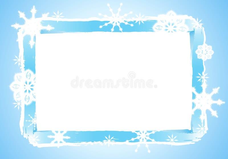 Rustic Snowflake Frame or Border 2 stock image