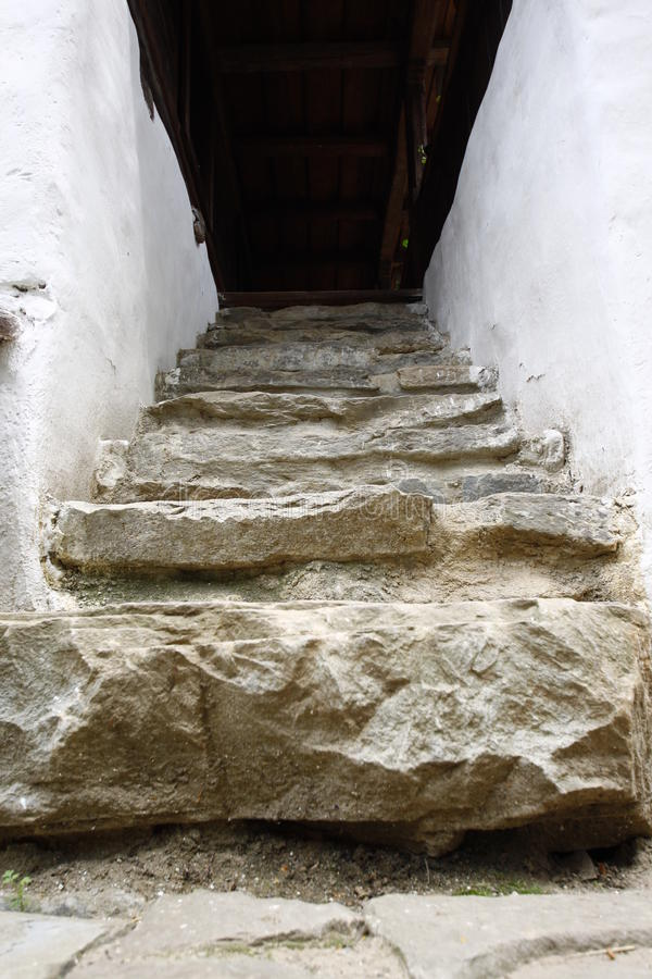 Rustic stairs royalty free stock images