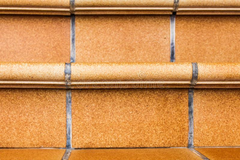 Rustic Stairs Tile Nobody Brown Case. Interior Exterior Background Backdrop Old stock photo