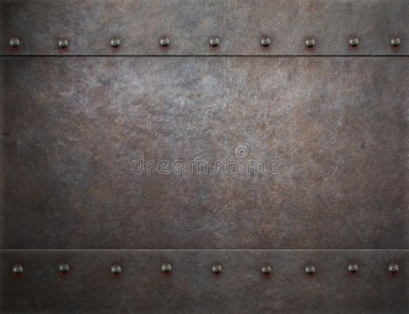 Rustic rivets metal background 3d illustration stock photography