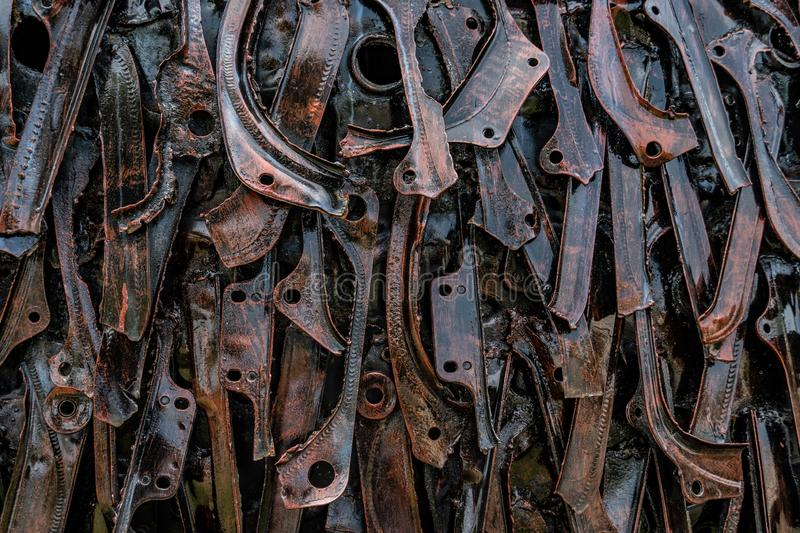 Rustic steel pattern, Recycling metal royalty free stock photo
