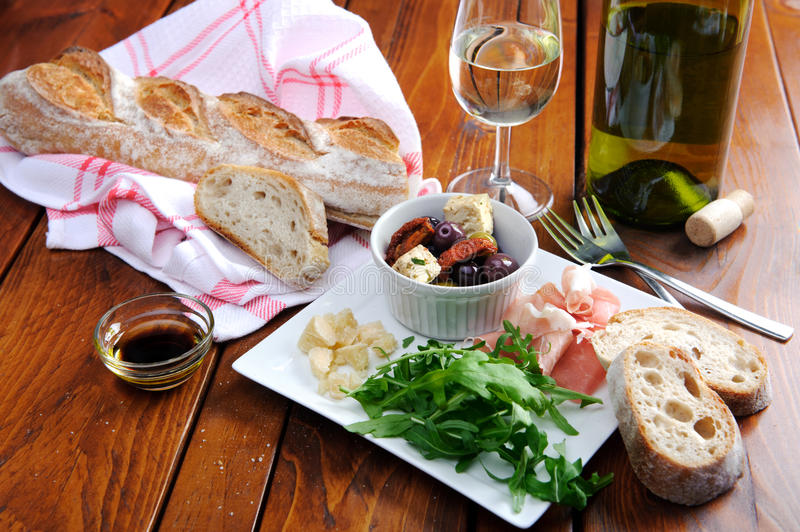 Download Rustic Table Setting With Food Stock Photo   Image Of Loaf, Italian:  58042558