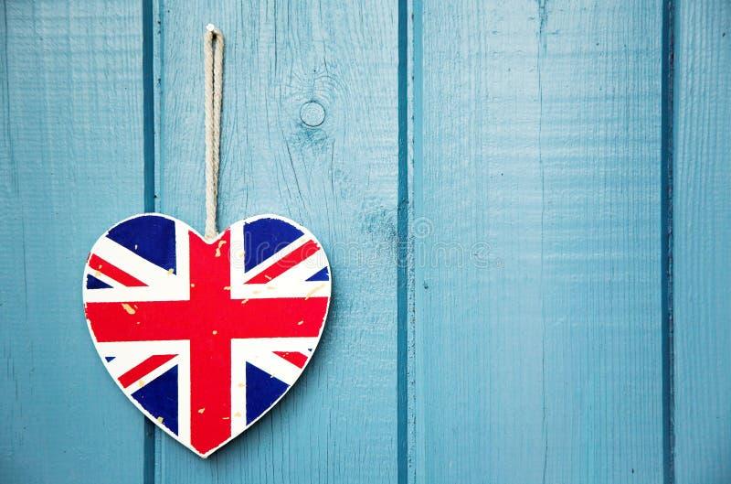 Download Rustic Union Jack Heart Decoration Stock Photo - Image: 24924830