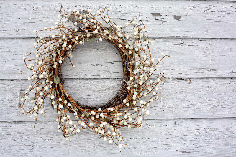 Rustic Vine and Berry Wreath stock image
