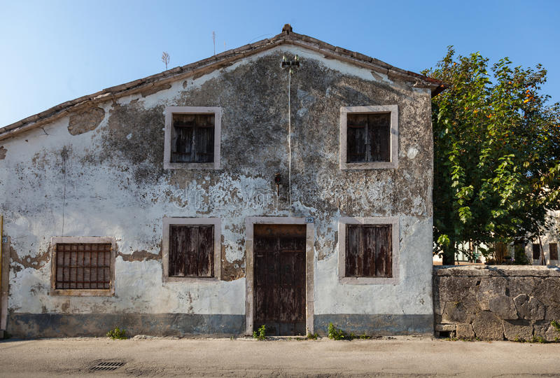 Rustic and weathered Italian house royalty free stock photos