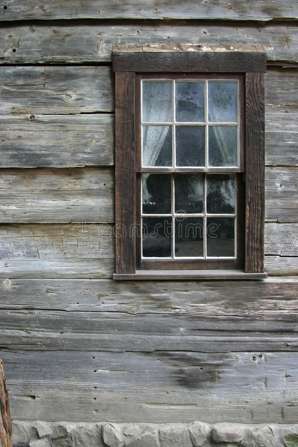 Rustic Window 1. A very rustic window on an old mountain cabin stock photos
