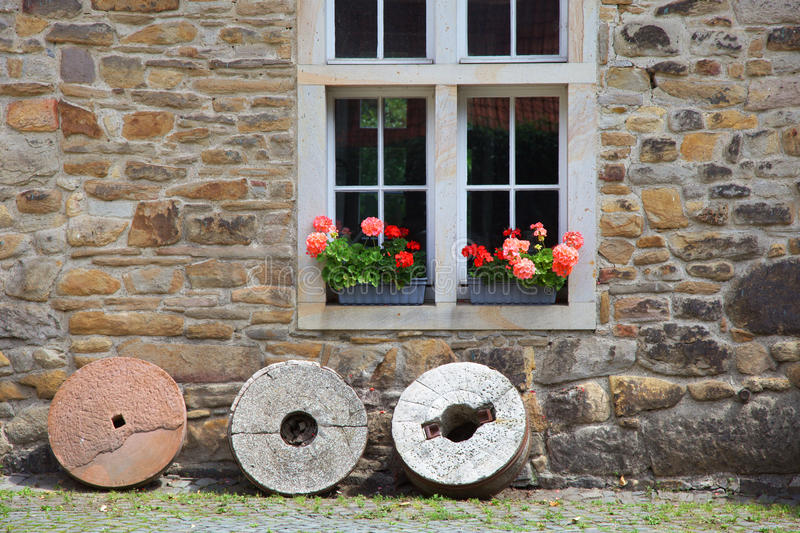 Download Rustic Window With Geraniums Royalty Free Stock Images - Image: 24045179