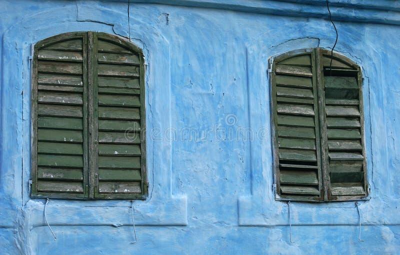 Rustic windows stock photography