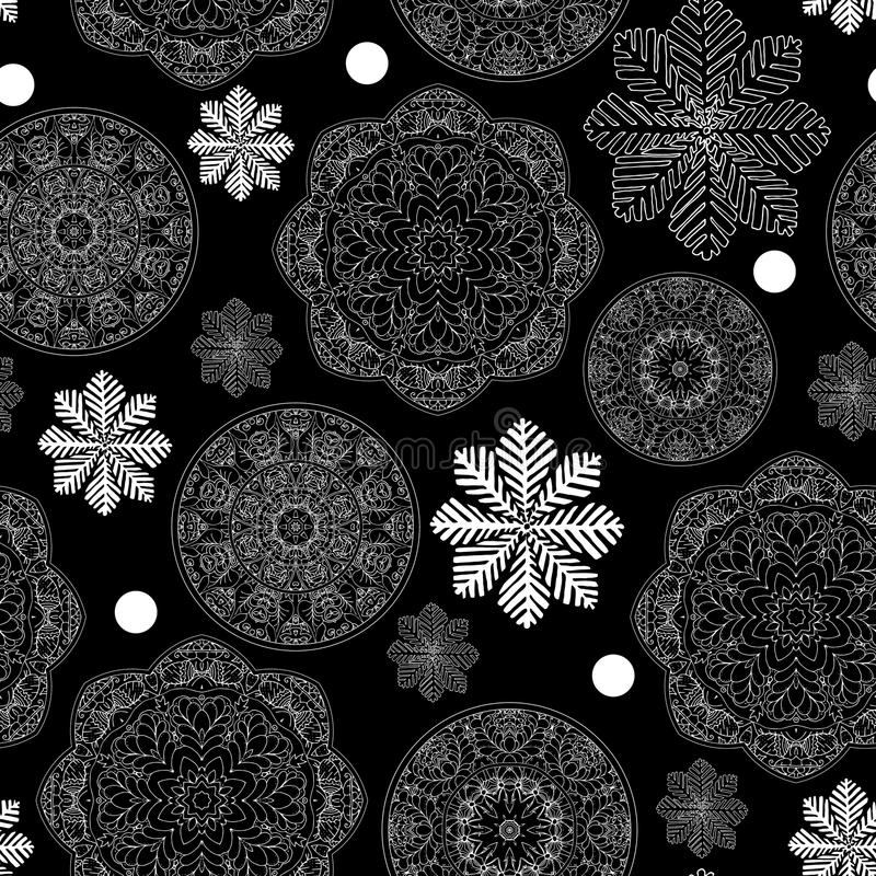 Download Rustic Winter Seamless Pattern For Scrapbook Paper Design Merry Christmas Printable Stock