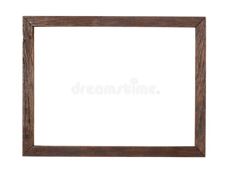 Rustic wood frame stock image