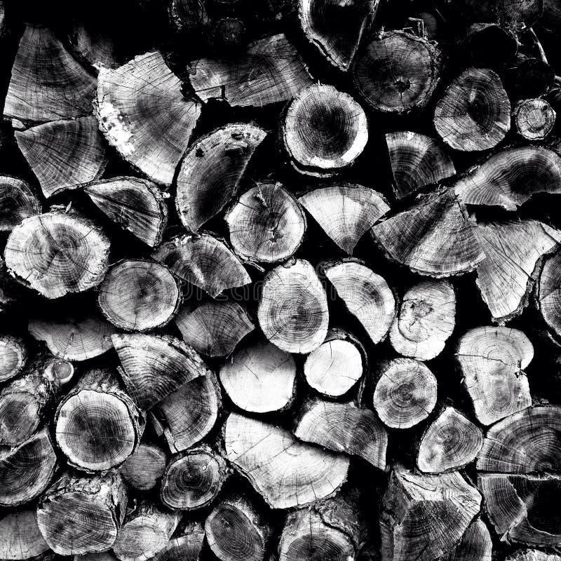 Rustic wood pile stock photo