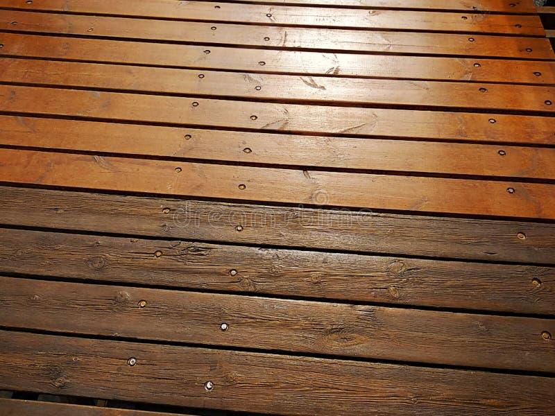 Rustic wood texture of a bridge. In Isla Cristina province of Huelva Spain stock photos