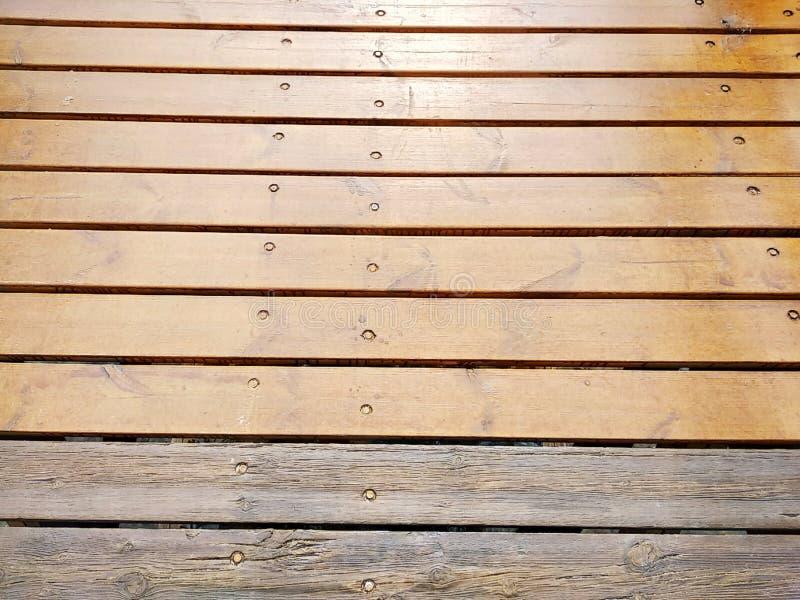 Rustic wood texture of a bridge. In Isla Cristina province of Huelva Spain stock photography