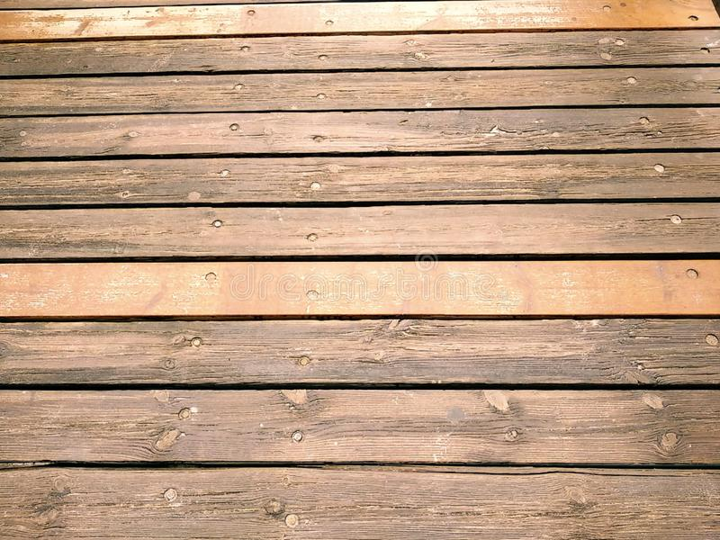 Rustic wood texture of a bridge. In Isla Cristina province of Huelva Spain royalty free stock photos