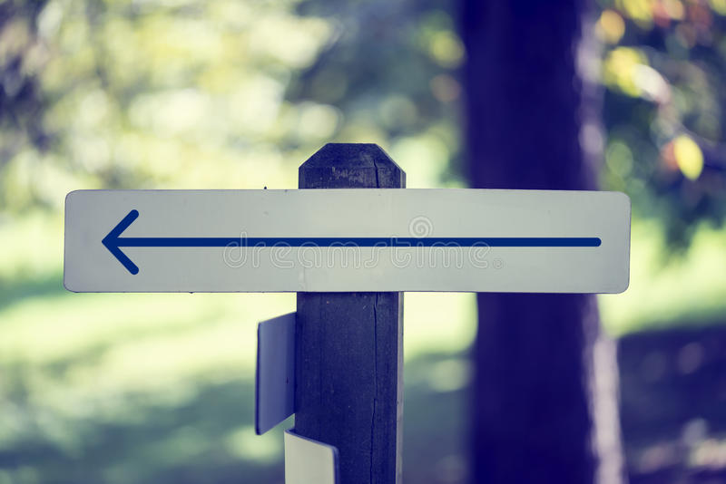 Download Rustic Wooded Signboard With A Left Arrow Stock Photo - Image: 38416374
