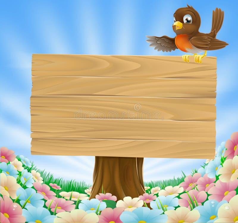 Rustic woodland sign stock illustration