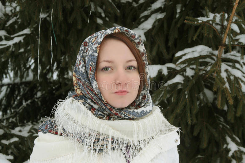 Download Rustic young woman stock photo. Image of cold, face, female - 12790188
