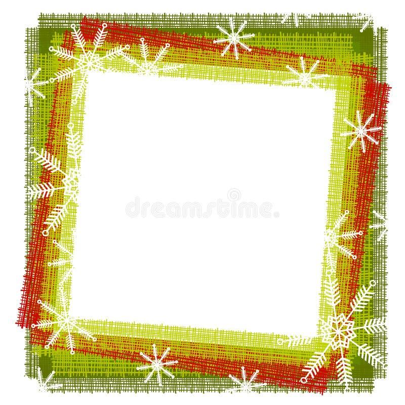 Rustiek Frame of Grens 2 van de Sneeuwvlok stock illustratie